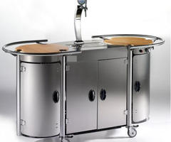 $11,000 Mobile Bongos Beer Bar Turns Any Room Into a Luxury Kitchen