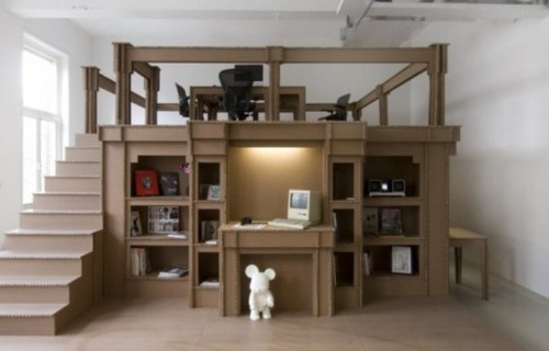 Creative Home Office Furniture, Cheap Modern Office Made Of Cardboard