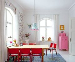 Light House With Colorful Interior And Bright Furniture