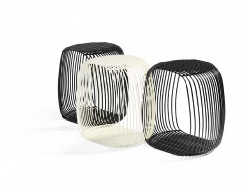 Black And White Bar Stools, Creative Stool Made Of Painted Metal