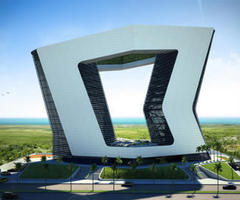 20-Storey GSI Tower in Mexico Will Have Two Terrific Openings In the Middle