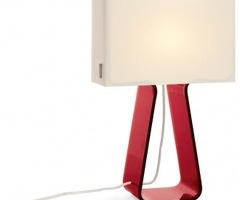 Pablo Tube Top Lamp With Red Acrylic Base