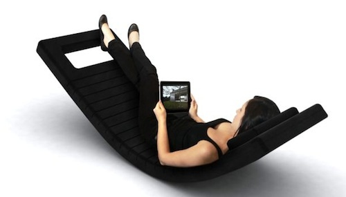 Modern Recliners, The LL2 Rocking Chaise – Bluetooth Equipped Luxurious Leather Lounger