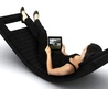 The LL2 Rocking Chaise  Bluetooth Equipped Luxurious Leather Lounger