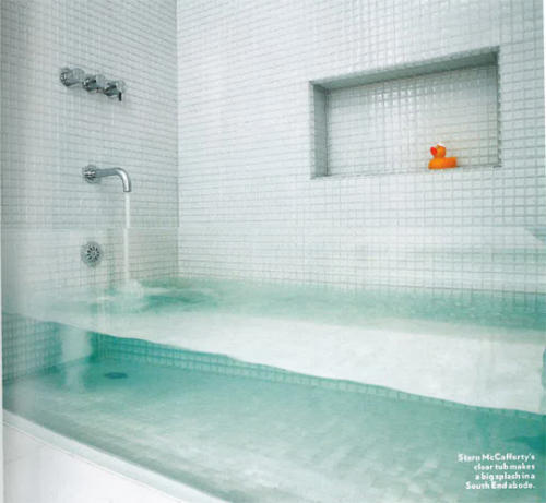 Clear Glass Bathtub, Clear Glass Bathtub by Stern McCafferty Reveals Everything in the Bathroom