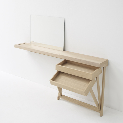 Dressing Table Designs, A Dressing Table And A Desk With Cool Hinged Drawers