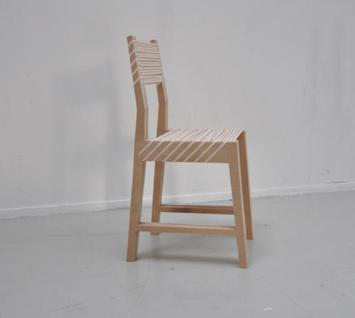 Storage Solution, Triplette Chair by Paul Menand Turns Into One Chair When Threes a Crowd