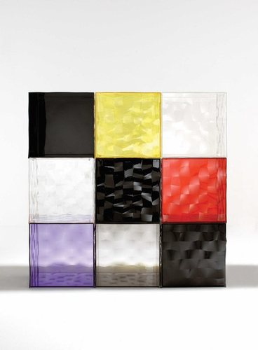 Contemporary Sideboards, Colorful Glass Drawers That Can Form An Art Object