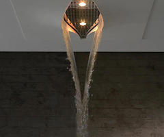 Virgin Showerhead By Zazzeri Is a Waterfall In the Ceiling