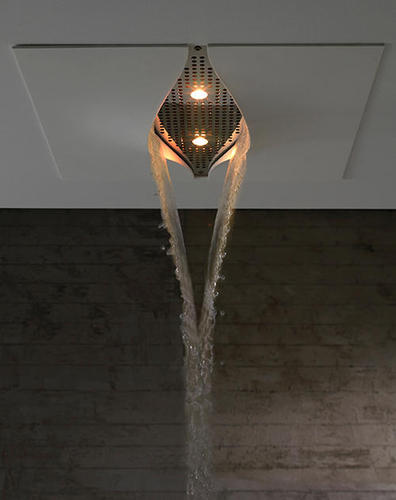Indoors Waterfall, Virgin Showerhead By Zazzeri Is a Waterfall In the Ceiling