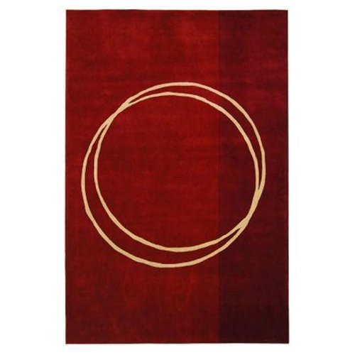 Rodeo Drive Circle Of Life Red Contemporary Rug, The Rodeo Drive Circle of Life Red Contemporary Rug For Modern Homes