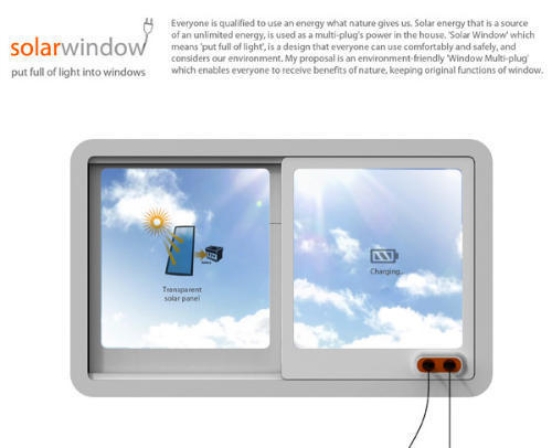 Eco Friendly Home, Modern Solar Window Can Recharge Electronics While Staring at the Sun
