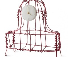 Transparent Mantle Clocks Made From Metal Wire