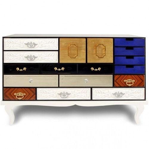 Contemporary Chest Of Drawers, Modern Colorful Chest Of Drawers With Marks