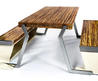 Legato Studio Dinner Table Turns Into a Bench in an Instant