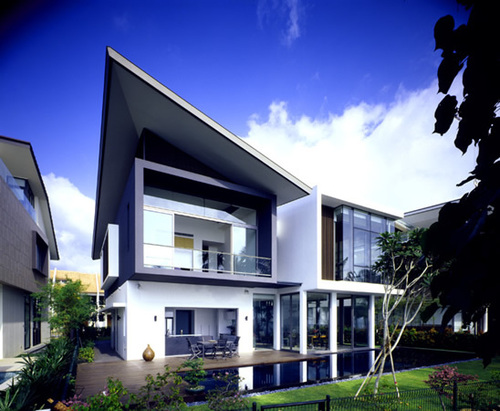 Modern House Architecture, Modern House at Small Area in Sentosa Cove « Preetha Prasad's Blog