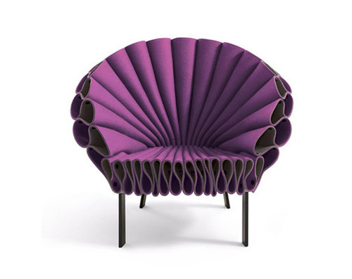 Furniture, Peacock Felt Chair by New York Design Studio Dror - Gradient Magazine