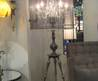 Shabby Sophisticated Chic Crystal Chandelier Floor Lamp
