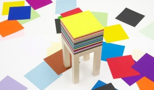Minimalist Small Table, Functional Drawing Table With 1800 Sheets Of Paper