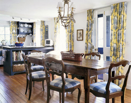 French country style dining room decorating ideas home for Country kitchen dining room ideas