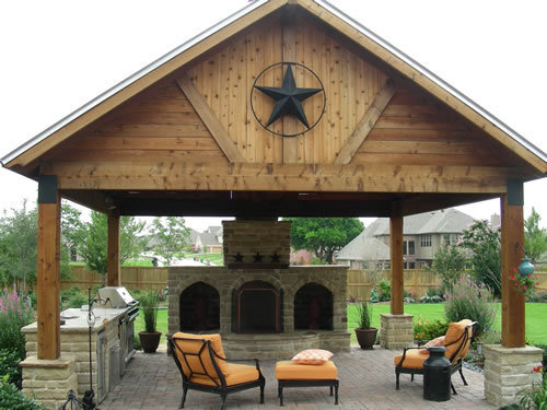 Outdoor Covered Patios Arbors Fences Stone Work In Plano Frisco Mc Kinne