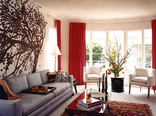 Wall Painting Designs For Living Room, Dining Room Design