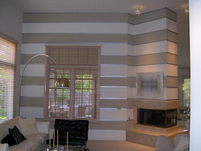Peahen Pad Inspiration Horizontal Painted Stripe Walls