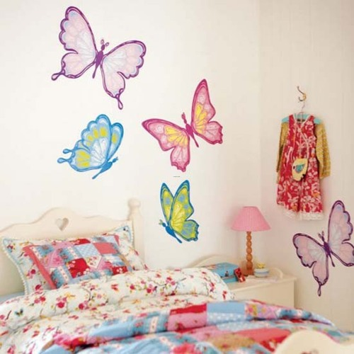 Wall Painting Designs For Girls, Kids Room Decor With Cool Wall Stickers Girls Kids Room Decor with Cool Wall Stickers 02 – Modern Home Design Ideas