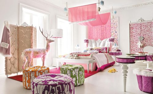 Wall Painting Designs For Girls, Interior Design
