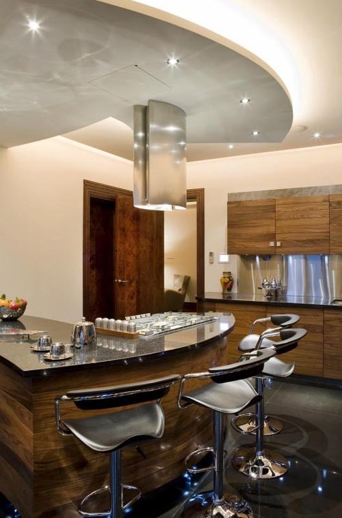 Kitchen Bar Designs, London Hyde Park Place Modern Luxury Home Design