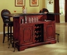 Canterbury Home Bar w Granite Top and Cherry Finish