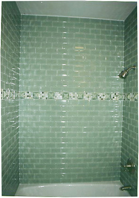 Bathroom Tile Showers, Ceramic glass mosaic bathroom tile photos