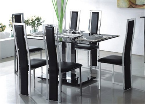 Contemporary Dining Table, Glass Dining Table