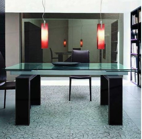 Contemporary Glass Dining Table, Glass dining tables