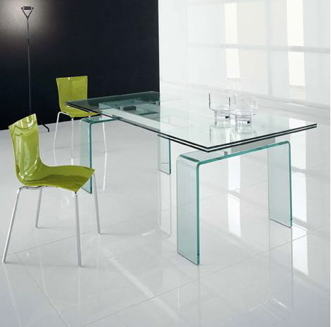 Contemporary Glass Dining Table, Contemporary Tables