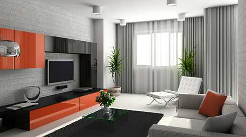 Living Room Modern, Modern Living Room Curtain Ideas, Living Room Curtains, Modern Curtain Pictures