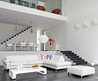 White Modern Sleeper Sofa Beds in Modern Living Room Designs by Roche Bobois 