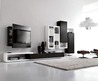 Living Room Furniture Tv Stand Black and White Style by Fimar 