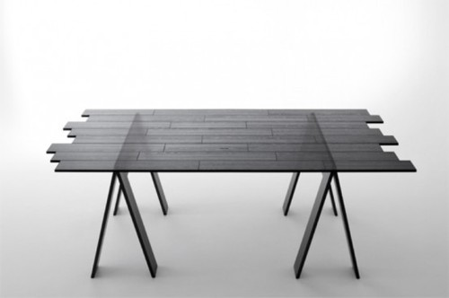 Contemporary Tables, Transparent Wood Table Perfect For Modern Dining Areas