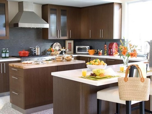 Brown Kitchen Cabinets, The Best Kitchen Furniture Color Combination by Popular Designer