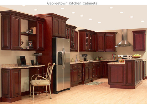 Brown Kitchen Cabinets, Woodstock Discount Cabinets