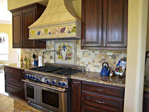 Brown Kitchen Cabinets, Interior Design