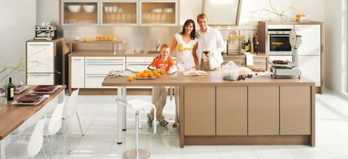 Brown Kitchen Cabinets, lovely modern simple brown kitchen cabinets
