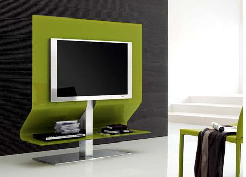Tv Room Design Pictures, Green Modern TV Stand