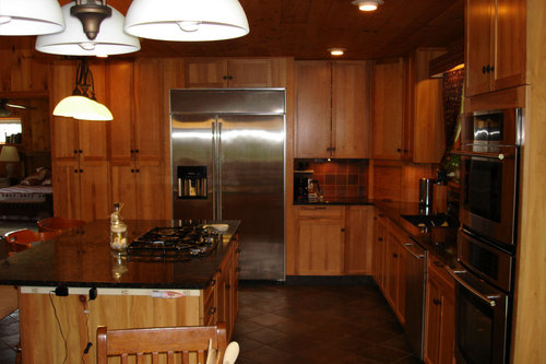 Maple Cabinets With Black Granite, Beautiful Custom Kitchen : Cooperstown NY Real Estate