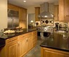 Black Granite Countertops and Maple Cabinets and Entertaining Kitchen For Two Cooks Transitional Kitchen 