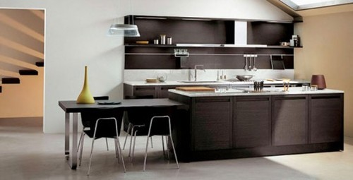 Dark Oak Kitchen Cabinets, Kitchen Design Inspiration Made of Light / Dark Oak Design