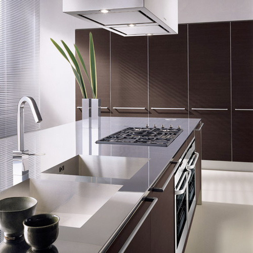 Dark Oak Kitchen Cabinets, Kitchen Cabinets With Dark Oak Laminate Doors