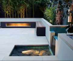 Modern Zen Roof Terrace Garden by Amir Schlezinger  /  Home Trends