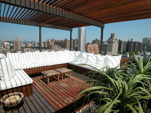 Terrace Apartment Design, Modern design rooftop terrace apartment by ochsdesign